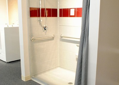 Shower with Grab Bars